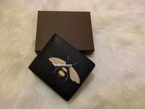 Дизайнер Мужская кошелек Известный животное змея тигра мужчины роскошные кошельки специальный холст несколько коротких до сифольда с коробкой