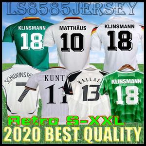Retro 1990 Coppa del Mondo 1994 1988 Littbarski Ballack maglia da calcio Klinsmann Matthias casa 2014 camicie Kalkbrenner JERSEY 1996 2004