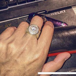 Pop Haute USpecial USpecial Hommes Hip Hop Anneaux Bijoux Or Argent GLACÉ grands anneaux Cristal Précieuses Bagues pour hommes