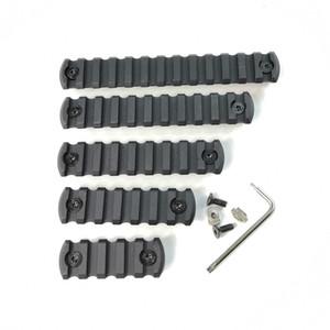 5,7,9,11,13 ranura CNC Aluminio Picatinny Rail Sección Fit M-lok Tipo Chaflán de esquina