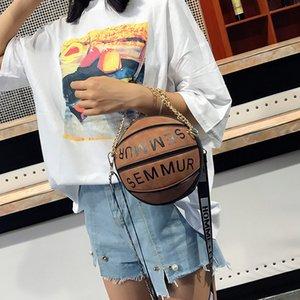 2020 nuevas damas de baloncesto de la personalidad creativa del bolso de cuero de la PU del hombro bolso de costura de crossbody pequeña bolsa casual ronda
