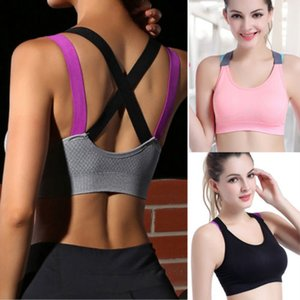 Frauen Fitness Stretch Workout Bustiers Korsett Nahtlose schulterfrei Padded Fitness-BH