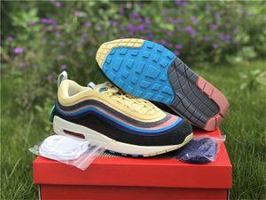 New Authentic 2020 Sean Wotherspoon x 1/97 VF SW 2018 Release Chaussures de course entraîneurs des hommes de citron Corduroy Sneakers arc-en avec la boîte originale