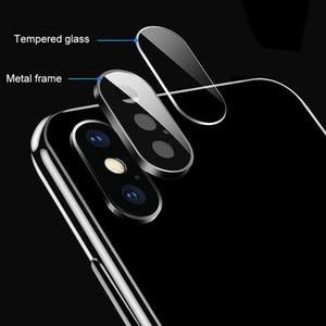 Zurück Kamera-Objektiv-Schirm-Schutz für iphone 11 Pro XS Max XR X-Ring-Metallrückfall Ausgeglichenes Glas-Film Mode Schutzhülle