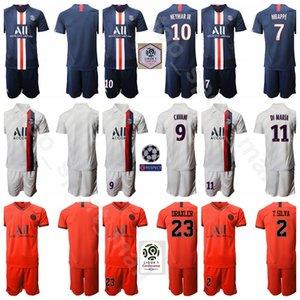 2020 파리 제르맹 7 킬리안 Mbappe 저지 남성 세트 (9)에 딘손 카바 니 (10) 네이 마르 JR (11) 디 마리아 드락 슬러 축구 셔츠 키트 유니폼