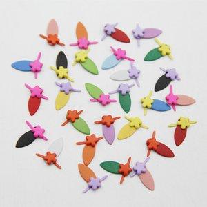 60pcs Mixed Color Paint Flower Metal Mini Brads Decor Embellishment Scrapbooking Fastener Rotating Buttons For DIY Album Frame
