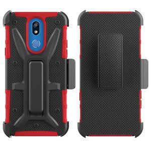 VH Combo Holster Tasche für LG G8 / G8S ThinQ / V40 / X Power3 / Coolpad Legacy / Coolpad Illumina / 3310A Gürtelclip 3-lagig Ganzkörper Robust Stoßfest