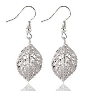 Fashion jewelry earrings Hollow Double sided leaves dangle chandelier earrings For women ladies wedding Drop earring