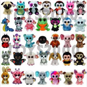 뜨거운 ty beanie boos 봉제 인형 장난감 15cm 도매 큰 눈 동물 아이들을위한 소프트 인형 생일 선물 Ty Toys X080-1
