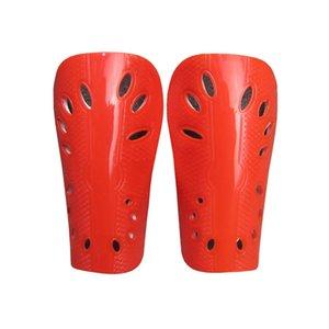 Niños un par de almohadillas de Orange Fútbol Baloncesto Junta polainas Proteger la pata de mesa de fútbol Guardia Leg Protector Niños Polaina Teenages 163