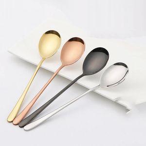 Eco-Friendly 304 coréenne en acier inoxydable Cuillère Set de haute qualité cuillers 205mm coréenne Accessoires de cuisine de vaisselle