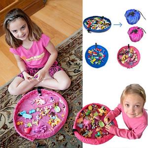 Wholesale-37cm Portatile Per Bambini Toy Storage Bag e Play Mat Giocattoli Organizer Bin Box moda borse di stoccaggio pratiche PC674520