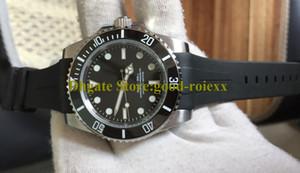 Herren Asien Mechanische Krone Bewegung Keramik Lünette Saphir 14060 Leuchtende Uhr Männer Gummi B Strap Sub Dive 114060 Sport Oysterflex Uhren