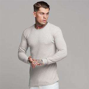 Mens Designer Aktiv Tees Art und Weise Striped Panelled Tees beiläufige lange Hülsen-Rundhalsausschnitt-T-Shirts Männer Kleidung