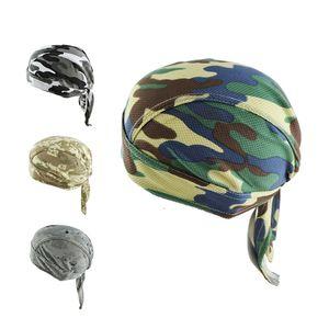 Moda Camouflage pirata Chapéu fresco respirável malha EUA Gang Rapper Hip Hop bonés de pano Long Tail Cap Capacete de equitação