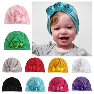 جديد أوروبا الرضع طفل الفتيات قبعة روز قبعات الطفل طفل أطفال بيني العمامة القبعات الأطفال الملحقات