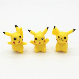 Nuevos 6pcs 3-5cm figuras Pock de PVC figura de acción minifigures amarilla DIY juguetes muñecas envío libre i por boomboom