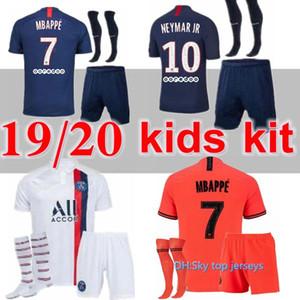 neue 19 20 PSG Kinder Kit Fußballjerseys 19 20 Mbappe ICARDI Verratti CAVANI DI MARIA MAILLOT DE FOOT Kind Kinder-Fußballhemd-Kit