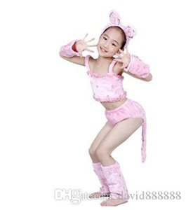 New style children Cosplay cat Animal perform clothing Boys and girls Dance Conjoined clothes