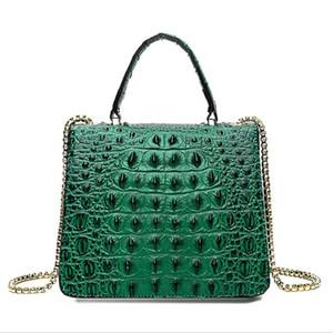Fashion Mini Small Square Pack Metal Lion Head Bag Crossbody Package Clutch Women Designer Wallet Crocodile Shoulder Bag Bolsos Mujer J19#489