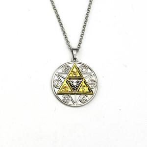 leyenda de la joyería del collar de Zalda famoso collar colgante de triángulo o de libre unisex f envío