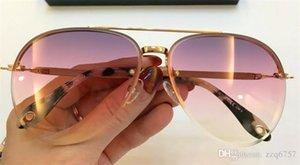 новый дизайнер модные солнцезащитные очки половина рама 7075 Опытное-Водяное режущей поверхности каркаса популярный летний стиль высокое качество с оригинальной коробке