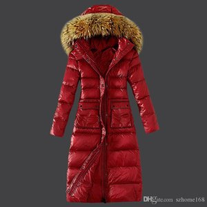 Standing collar, hooded wool, big hair collar, body repair, waist, pocket, straight tube, hem, women's down jacket, cotton clothes.