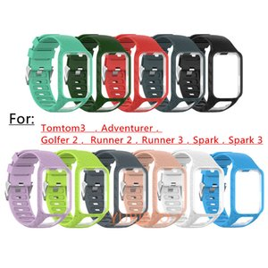New Watchband for TomTom 2 3 Series Watch Strap Silicone Replacement Wrist Band Strap For TomTom Runner 2 3 Golfer 2 Adventurer GPS Watch