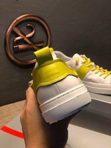 2019 scarpe da uomo di projetar di lusso Yellwo rendas utilidade superfície guarnição exterior de jogging caminhada sapatos casuais plate-forme # 4F