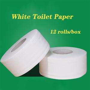 12rolls / cuadro blanco suave del papel higiénico del rollo de papel Comfort baño del cuidado de tejido altamente absorbente casero baño papel higiénico servilletas