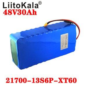 LiitoKala 48V 30Ah 21700 batería de iones de litio 5000mAh 13S6P Vespa batería 48v 30Ah bicicleta eléctrica de la batería XT60