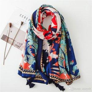 new spring winter Hot Lady Women Double Sided National Wind Scarf Wrap Shawl popular muffler shawls
