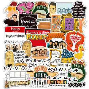 100pcs EE.UU. programa de TV AMIGOS clásico pegatinas Sitcom Pretty Girls Mixta buenos recuerdos Notebook Guitarra bicicletas etiqueta de teléfono Ipad Decal Pegatinas