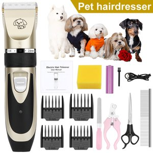Free Shipping! Electrical Pet Dog Clippers Professional Low Noise Pet Hair Clippers Pet Grooming Kit with Comb Guides Scissors Nail Kits