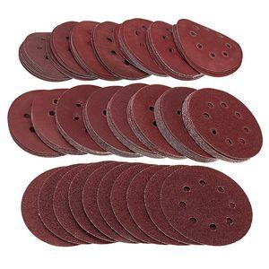 160pcs / Set 5Inch Schleifscheiben 125mm 8-Loch-Pads 40-2000 Grit Sander Schmirgelpapier