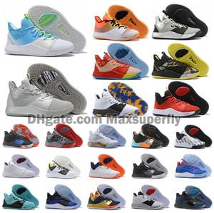 Sıcak Yeni Renk Paul George PG 3 PE 3S Apollo Görevler nasa Satış III Erkek Erkek Basketbol Ayakkabı Ucuz PG3 Spor Spor ayakkabılar Boyut US7-12