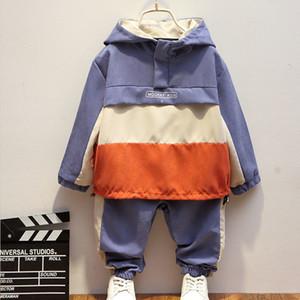 Teen Kinderkleidung Baby Jungen Kostüm Brief Trainingsanzug Tops Hosen 2 stücke Kinder Junge Outfits Kleidung Set Frühling Herbst T200707