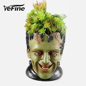 Planta carnosa YeFine Resina Macetas para el jardín plantadores historieta creativa Estatua Animal Groot Bonsai Pot Maceta Macetas CJ191226
