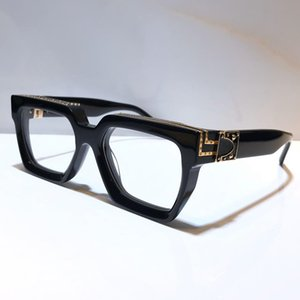 Milionário Explique 1165 Designer Óculos Homens retro mulheres Logo Goggle brilhante do ouro Laser Estilo Verão banhado a ouro Top Quality