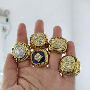 2019 großhandel Edmonton 5 stücke Ring Oilers Stanley Cup Eishockey Meisterschaft Ring Fan Männer Geschenk Großhandel Drop Shipping