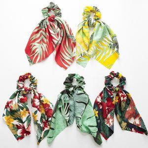 Vintage Mujeres Sombreros Diy Bow Streamers Gomas para el pelo Lazos de la cinta Lazos de cola de caballo Head Wrap Accesorios para el cabello