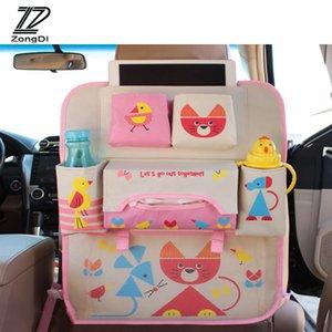 ZD automobile del fumetto del sacchetto dei capretti Per C5 C4 C3 Mini Cooper Astra H G J Vectra C Saab Seat Covers Torna bagagli Net Organizer