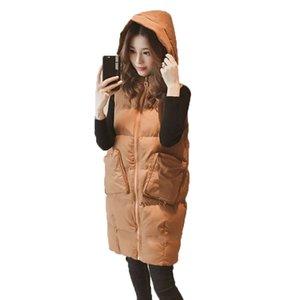 Gilet da donna Gilet in cotone Parka Autunno Autunno Vestiti invernali Versione coreana Collare Collare selvaggio Cappotto lungo per abbigliamento