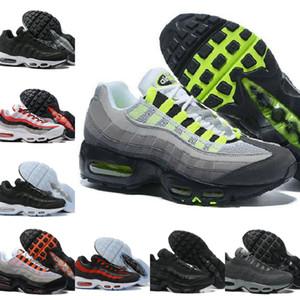 Оптовая продажа Ultra 95 OG X 20th Anniversary Men Running Sports Shoes дешевые 95s Trainer Air Черная подошва серый синий высокое качество теннисная спортивная обувь