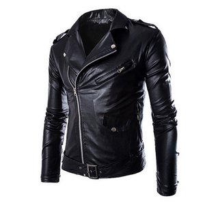 Dihope New Autumn Men's PU Leather Jacket For Men Fitness Fashion Male Suede Jacket Casaco Masculino Casual Coat Male Clothing