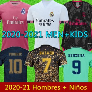 2021 camisetas de real madrid 2020 peligro sergio ramos isco Reinie fútbol pacas Modric 20 21 Hombres camiseta de fútbol niños kit Hombres Niños CAMISETAS