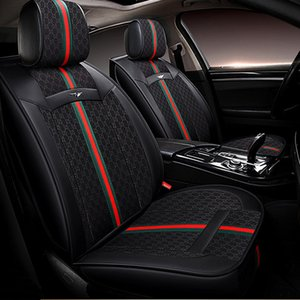 Lunda Brand Embroidery 1Set Universal Car Seat Covers Fit Most Cars Covers Interior Accessories Protector Car-Styling (Black gray)