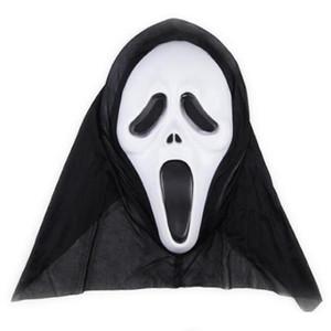 Horror Máscara del cráneo del fiesta de Halloween máscaras Decoración Screaming Máscaras Esqueleto de la mueca de la cara llena Apoyos para los hombres de las mujeres de la mascarada DHF279