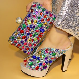 Золотые туфли и сумка African наборы итальянской леди обувь с Matching сумки нигерийских женщин обувь и сумки, чтобы матч для партии