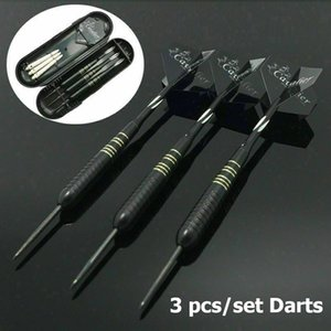 23g 3Pcs / Set Professional Tungsten Darts Set, Preto Dourado Aço Tip + Shaft + Voo + Barrel, 3 extra Shaft + Carry Case